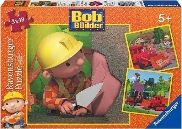 Puzzle 3x49 Ravensburger 094004 Bob Budowniczy 3w1