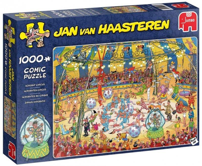 Puzzle 1000 Jumbo 19089 Jan Van Haasteren - Akrobatyka Cyrkowa