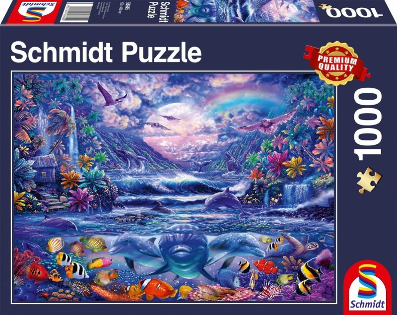 Puzzle 1000 Schmidt 58945 Oaza w Blasku Księżyca