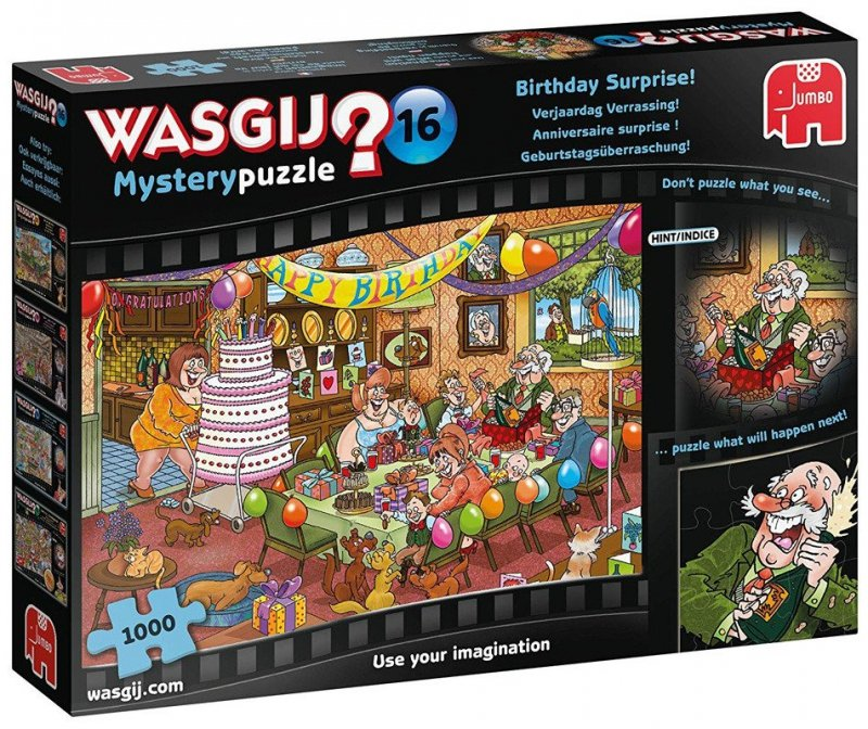 Puzzle 1000 Jumbo 13203 Wasgij Mystery 16 Urodzinowa Niespodzianka