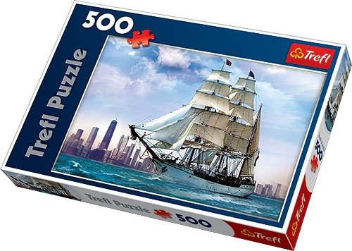 Puzzle 500 Trefl 37120 Żaglowiec na tle Chicago