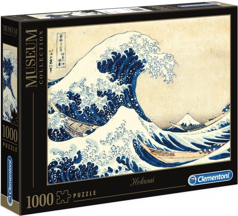 Puzzle 1000 Clementoni 39378 Museum - Hokusai - Wilka Fala w Kanagawie