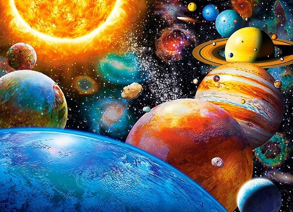 Puzzle 300 Castorland B-030262 Planety i ich Księżyce