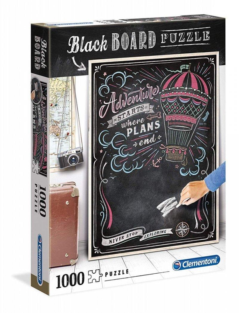 Puzzle 1000 Clementoni 39478 Black Board - Czarna Tablica Podróż