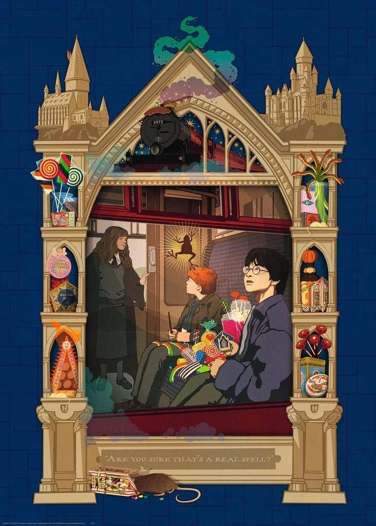 Puzzle 1000 Ravensburger 165155 Harry Potter - w Drodze do Hogwartu