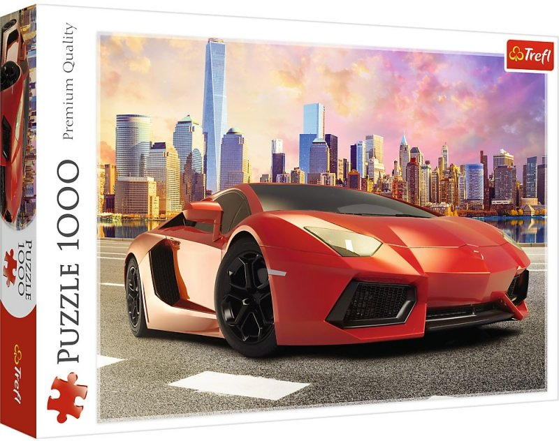 Puzzle 1000 Trefl 10601 Przejażdżka o Zachodzie Słońca - Czerwony Samochód