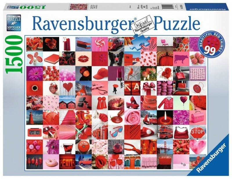 Puzzle 1500 Ravensburger 162154 Czerwonych Przedmiotów 99