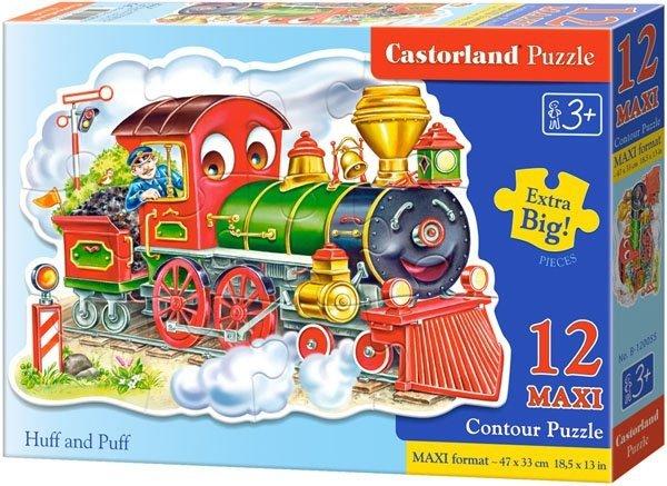 Puzzle 12 Maxi Castorland B-120055 Lokomotywa - Huff and Puff