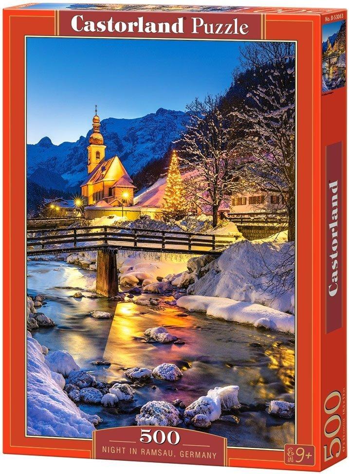 Puzzle 500 Castorland B-53063 Noc w Ramsau - Niemcy