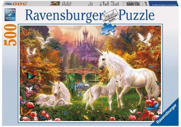 Puzzle 500 Ravensburger 141951 Magiczne Jednorożce