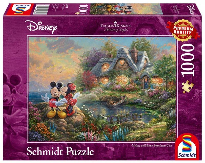 Puzzle 1000 Schmidt 59639 Thomas Kinkade - Myszka Miki i Minnie - Disney
