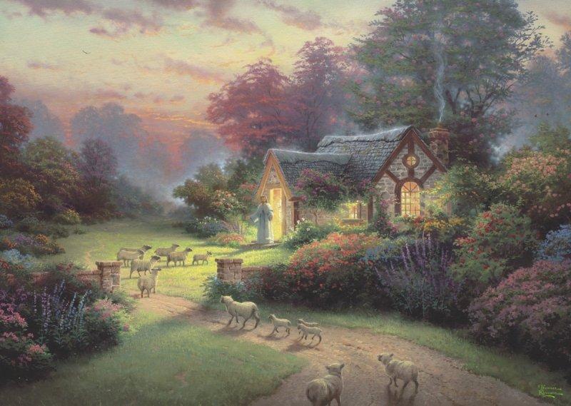 Puzzle 1000 Schmidt 59678 Thomas Kinkade - Chatka Dobrego Pasterza