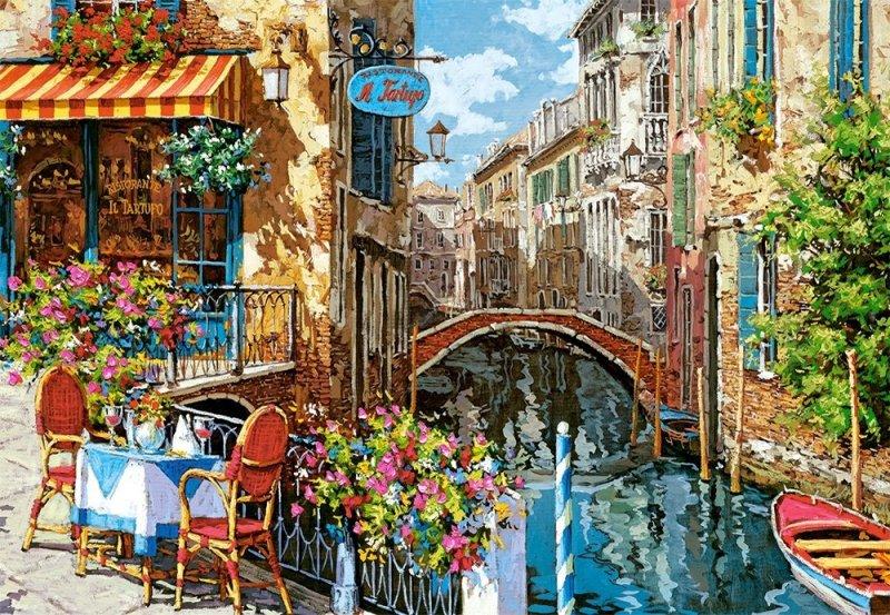Puzzle 1500 Castorland C-151738 Wenecja - Restauracja z Truflami