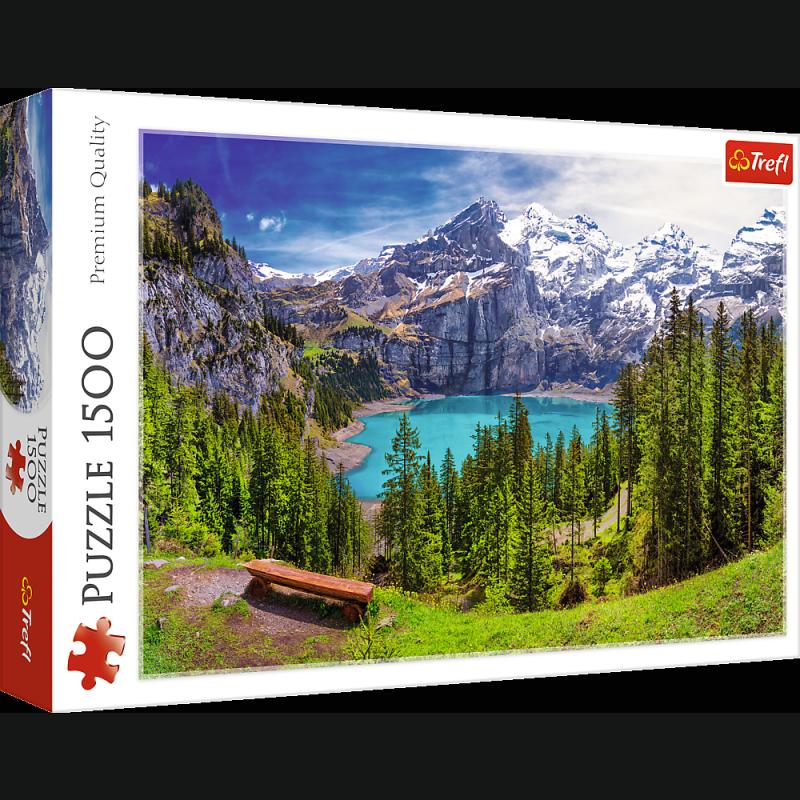 Puzzle 1500 Trefl 26166 Jezioro Oeschinen - Alpy