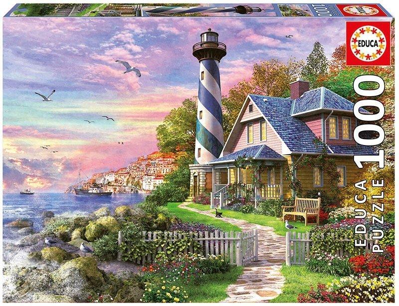 Puzzle 1000 Educa 17740 Latarnia Morska w Rock Bay