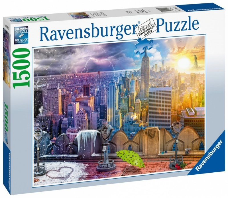 Puzzle 1500 Ravensburger 160082 Sezony w Nowym Jorku