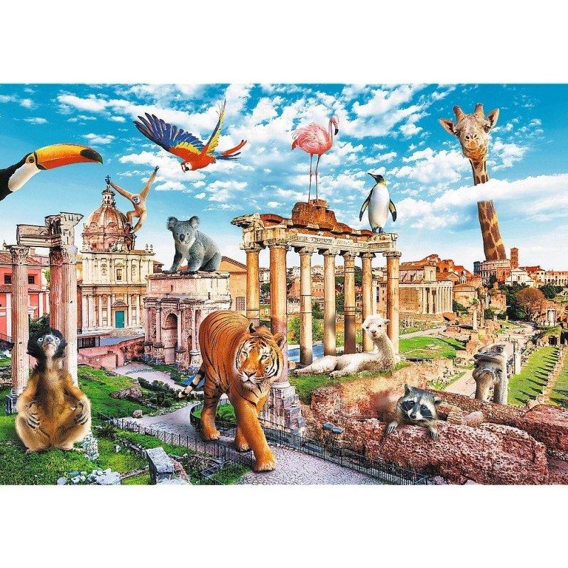 Puzzle 1000 Trefl 10600 Funny Cities - Zwierzęta w Rzymie