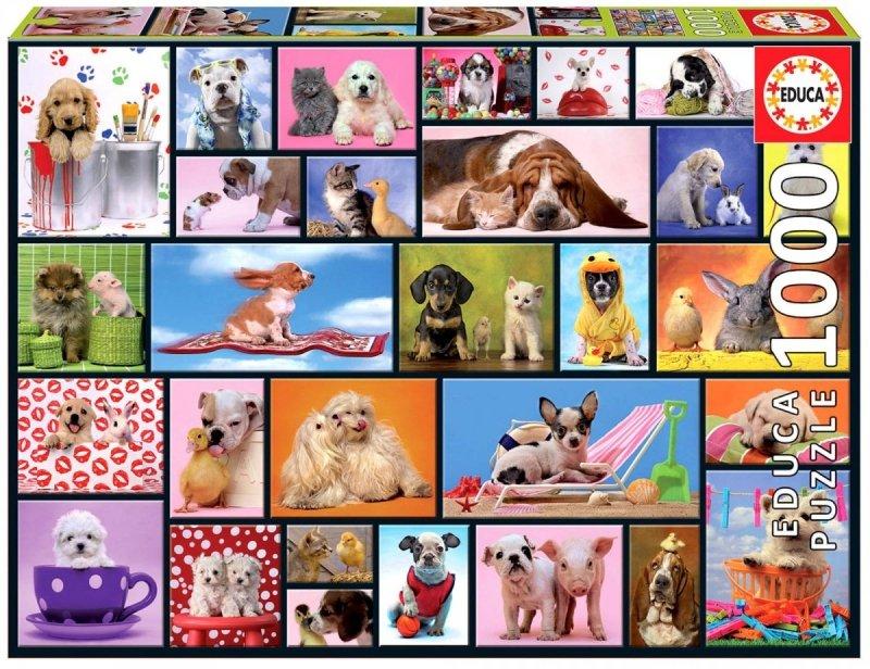 Puzzle 1000 Educa 15518 Zwierzęta - Wspólne Chwile