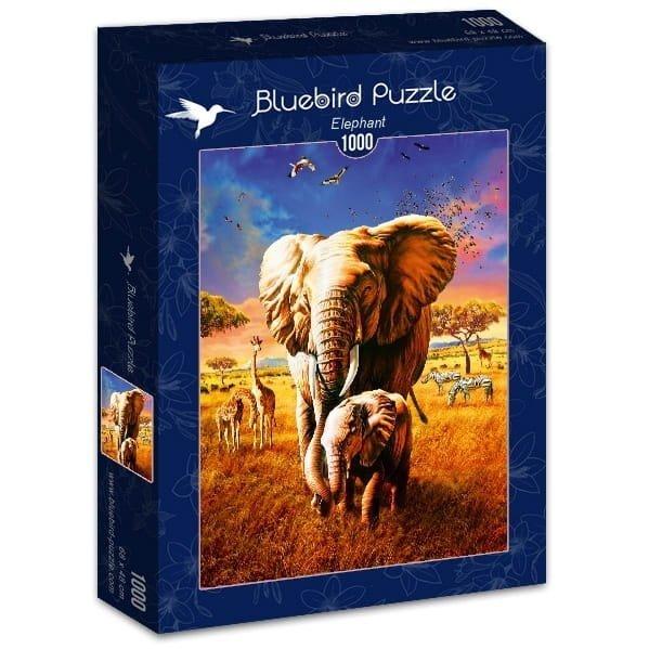 Puzzle 1000 Bluebird 70314 Adrian Chesterman - Słonie