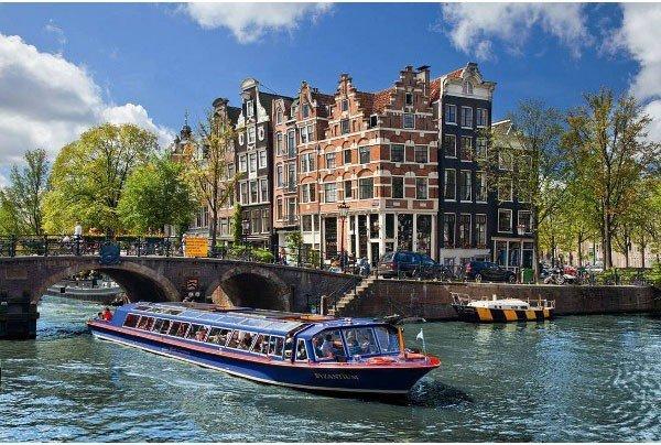 Puzzle 1000 Ravensburger 191383 Kanał w Amsterdamie