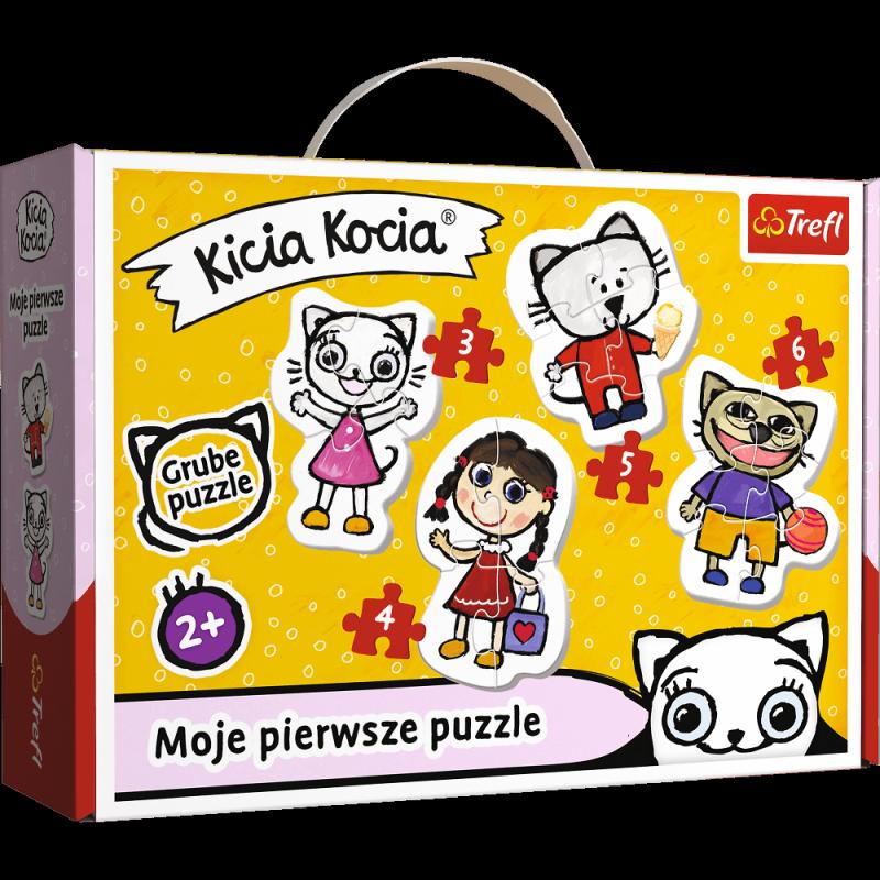 Puzzle 3,4,5,6 Baby Classic Trefl T-36088 Wesoła Kicia Kocia