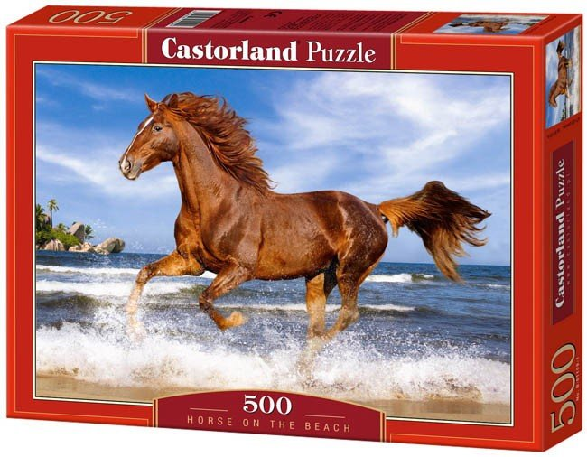Puzzle 500 Castorland B-51175 Horse on the beach