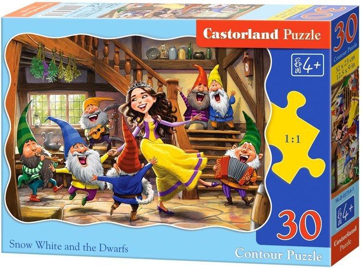 Puzzle 30 Castorland B-03754 Królewna Śnieżka i Krasnoludki