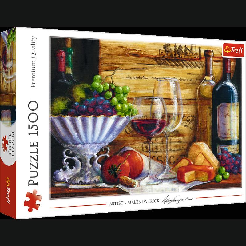 Puzzle 1500 Trefl 26174 Martwa Natura z Owocami i Winem