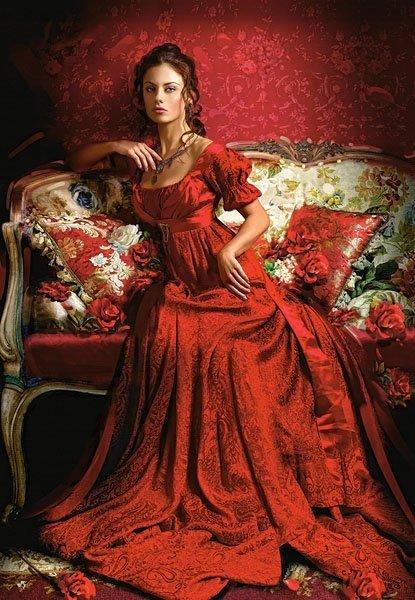 Puzzle 1500 Castorland C-151370 Kobieta w Czerwonej Sukni
