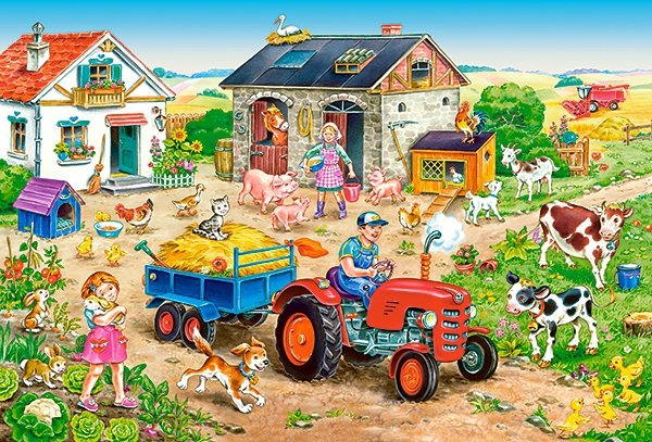 Puzzle 40 Maxi Castorland B-040193 Życie na Farmie