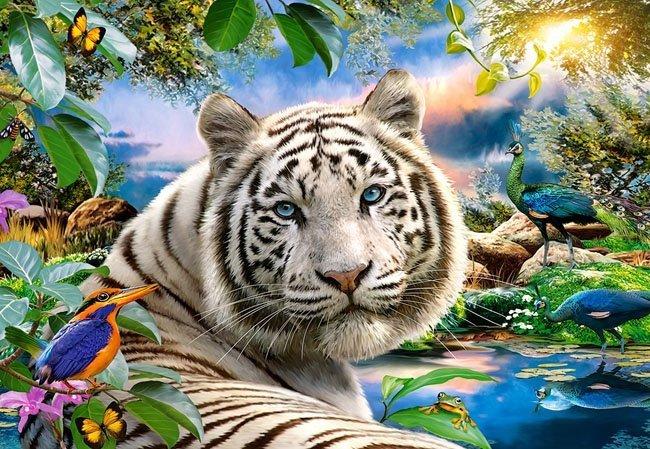 Puzzle 1500 Castorland C-151318 Tygrys - Twilight