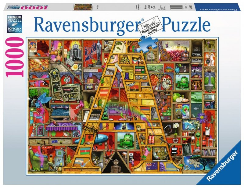 Puzzle 1000 Ravensburger 198917 Niesamowity Alfabet A