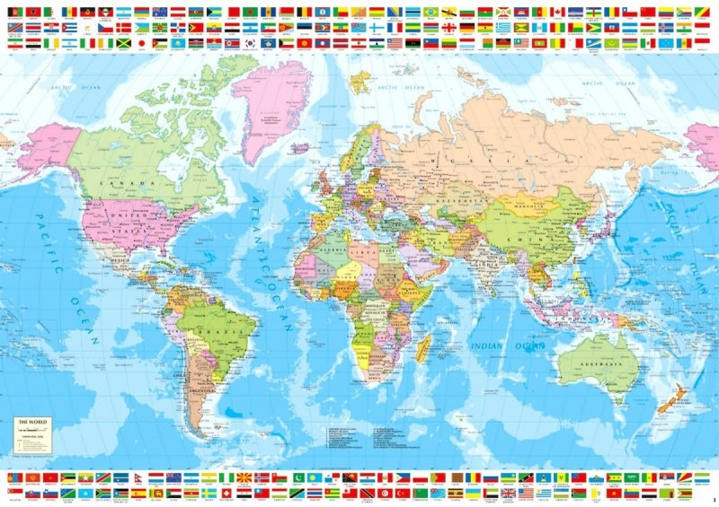 Puzzle 1500 Educa 18500 Polityczna Mapa Świata