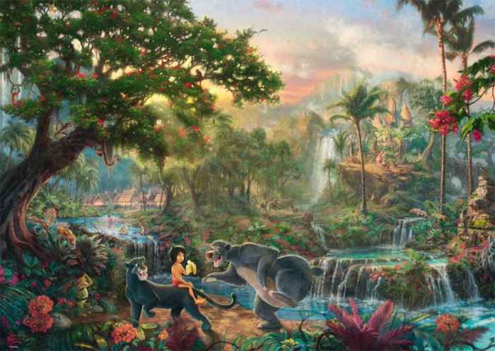 Puzzle 1000 Schmidt 59473 Thomas Kinkade - Księga Dżungli - Disney
