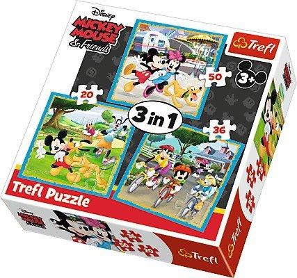 Puzzle 3w1 Trefl T-34846 Myszka Miki z Przyjaciółmi