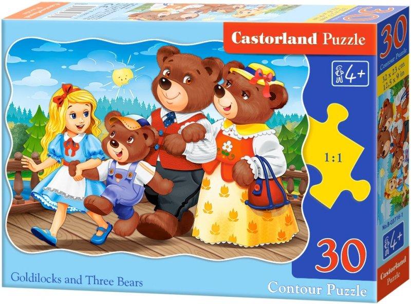 Puzzle 30 Castorland B-03716 Złotowłosa i Trzy Niedźwiedzie