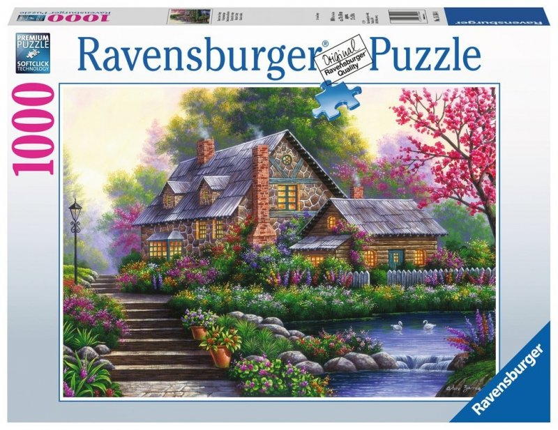 Puzzle 1000 Ravensburger 151844 Romantyczny Domek