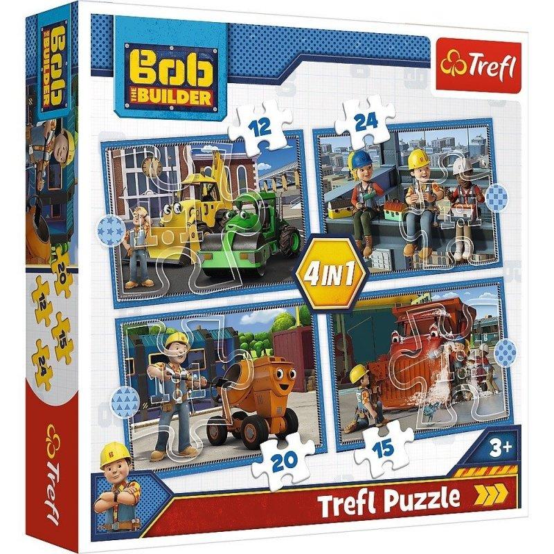 Puzzle 4w1 Trefl T-34350 Bob Budowniczy - Pracowity Dzień
