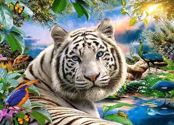Puzzle 180 Castorland B-018192 Tygrys Biały