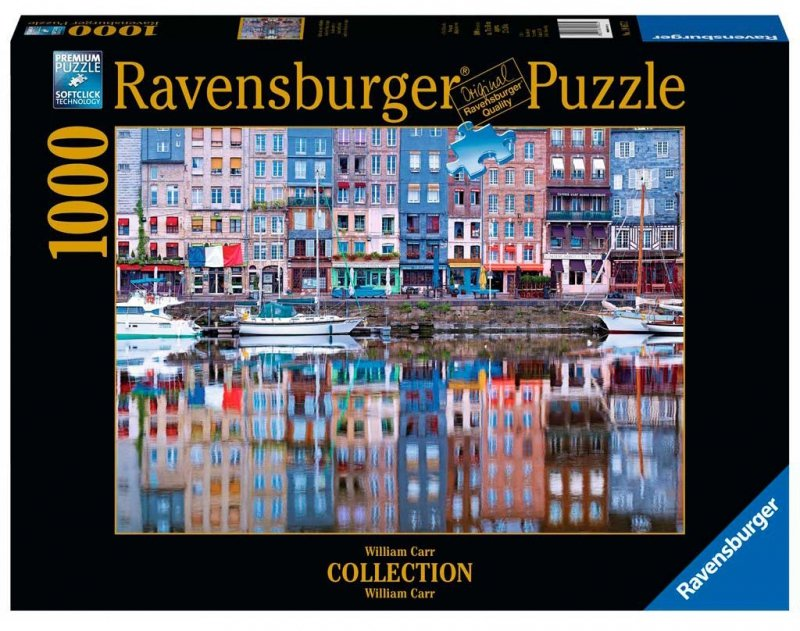 Puzzle 1000 Ravensburger 198672 Honefleur - Lusrzane Odbicie