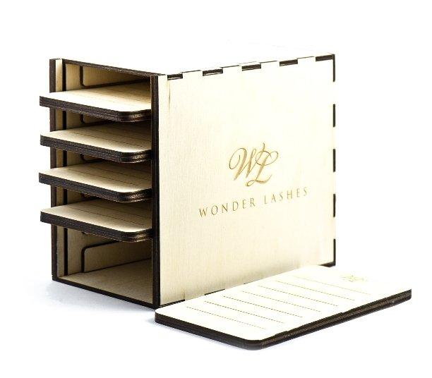 Lash Box drewniany by Wonder Lashes