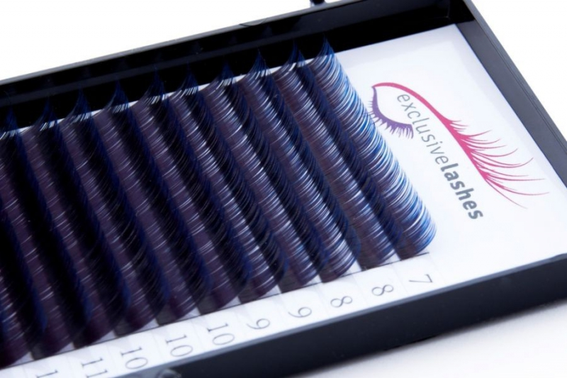 Rzęsy Ombre Niebieskie by Exclusive Lashes