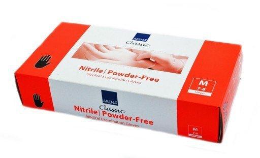 Rękawiczki Nitrylowe Bezpudrowe Różowe 100szt