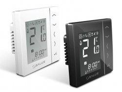 Bezprzewodowy, podtynkowy cyfrowy regulator temperatury sieci ZigBee, 230V Czarny