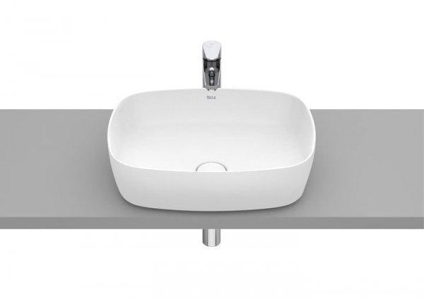 Inspira Umywalka nablatowa cienkościenna Soft  Wymiary:  Szerokość: 500 mm.  Głębokość: 370 mm.  Wysokość: 140 mm