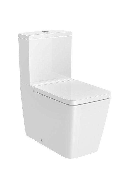 Inspira     Miska WC Square o/podwójny do kompaktu Rimless       Wymiary:      Szerokość: 375 mm.      Głębokość: 645 mm.      Wysokość: 794 mm.