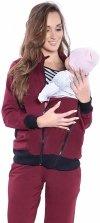 Dres Ciążowy i do karmienia komplet 3 części 4053 bordo