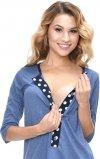 MijaCulture - 3 w 1 piżama ciążowa i do karmienia 4054/M52 niebieski/granat4