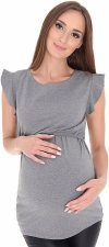 Wyjątkowa bluzka 2 w 1 ciążowa i do karmienia Emily 7139 szara2