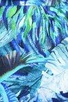 MijaCulture - osłona drukowana z minky 4127 niebieska/ptaki 3